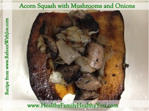 Acorn Squash with Mushrooms and Onions