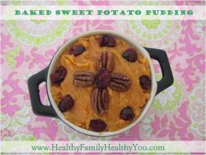Baked Maple Sweet Potato Pudding