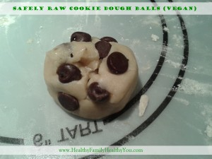 Safely Raw Cookie Dough Balls